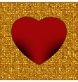 gold background heart vector image vector image