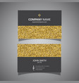 gold glitter business card design vector image vector image