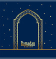 golden mosque door ramadan kareem background vector image vector image
