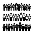 group people worker from different profession vector image