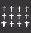 grunge hand drawn cross symbols set christian vector image vector image