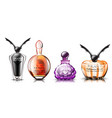 halloween perfume set realistic product vector image