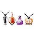 halloween perfume set realistic product vector image vector image