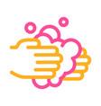 hands wash liquid soap icon outline vector image vector image