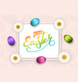 happe easter background lettering eggs greeting vector image