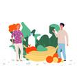 healthy food concept vegan lifestyle vector image vector image