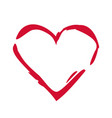 heart symbol romantic and love vector image vector image