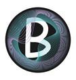 holographic glitch monogram letter frame vector image