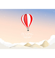Hot air balloon travel background vector image vector image
