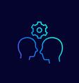 human interaction linear icon vector image vector image