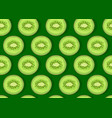 kiwi fruit piece seamless pattern with shadow on vector image vector image