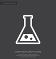 laboratory premium icon white on dark background vector image