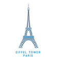 line art eiffel tower paris symbol european vector image vector image