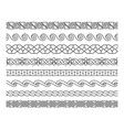 linear lacework borders set vector image