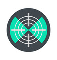 maritime radar aim icon flat style vector image vector image