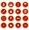 measure precision icon red circle set vector image vector image