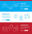 medical web banners healthcare vector image vector image