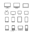 modern and vintage mobile gadgets and monitors vector image vector image