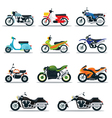 Motorcycle Types Objects Icons Set vector image vector image