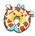 neck pillow textured giraffe isolated on white vector image vector image
