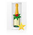 new year packing box with champagne vector image vector image