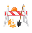 objects for road works vector image