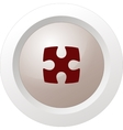 Part of paper puzzles flat icon vector image vector image