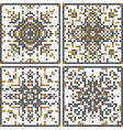 pattern cross stitch set scandinavian patterns vector image vector image