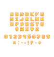 pixel font on white background vector image