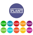 plant flat icon vector image vector image