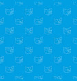 postcard i love you pattern seamless blue vector image
