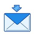 receive message line icon vector image