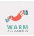 red knitted scarf vector image