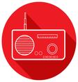 Retro radio in a flat design vector image vector image