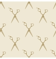 Scissors pattern tile background seamless vintage vector image