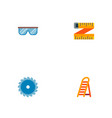 set of industrial icons flat style symbols with vector image vector image