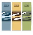 Set Of Three Abstract Camouflage Vertical Banners vector image vector image