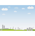 simple city landscape vector image vector image