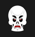 skull angry emoji skeleton head grumpy emotion vector image vector image