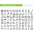 sport and recreation flat icon set collection of vector image vector image