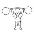 strong man design vector image