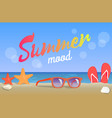 summer mood beauty seascape colorful banner vector image