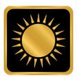 sun button on white vector image vector image