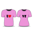 T shirt pink template vector image