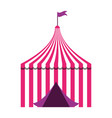 tent circus carnival vector image vector image