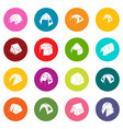 tent forms icons set colorful circles vector image