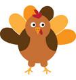 thanksgiving turkey bird funny cartoon turkey vector image