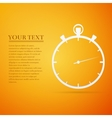 Timer flat icon on orange background vector image vector image