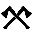 two crossed axes vector image