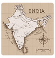 vintage map india vector image